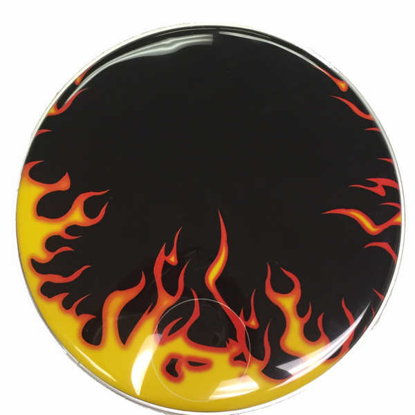 Flames Resonant Bass Drum